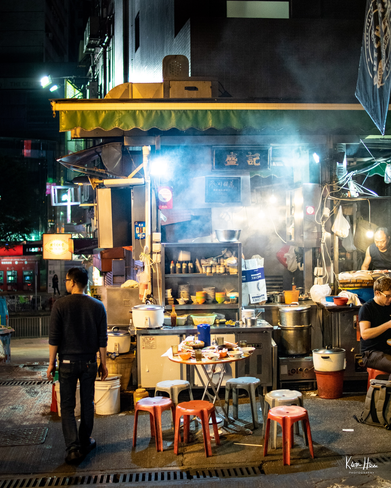 Hong Kong Night Market Food Stand (Vertical)