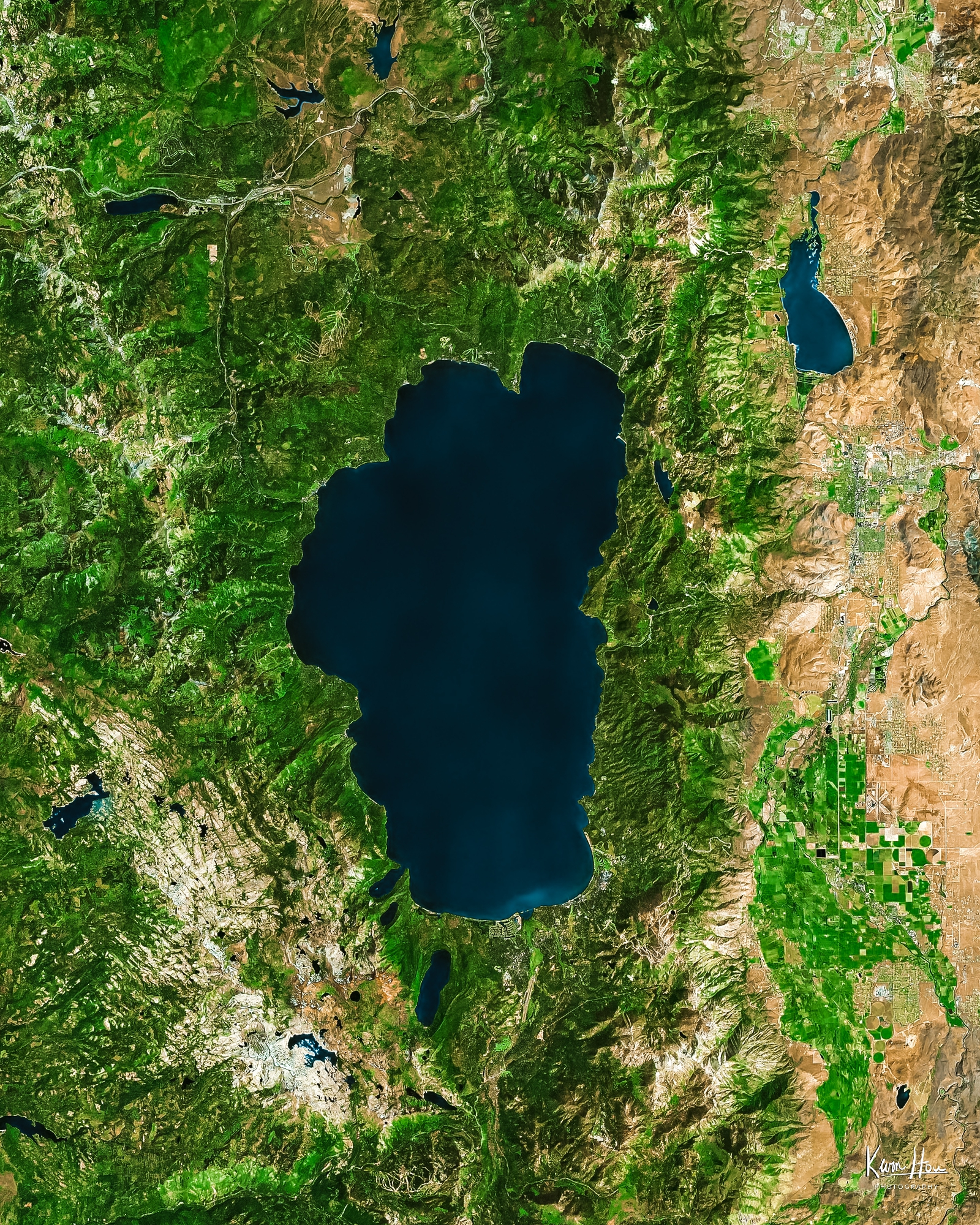 Lake Tahoe Satellite Photo