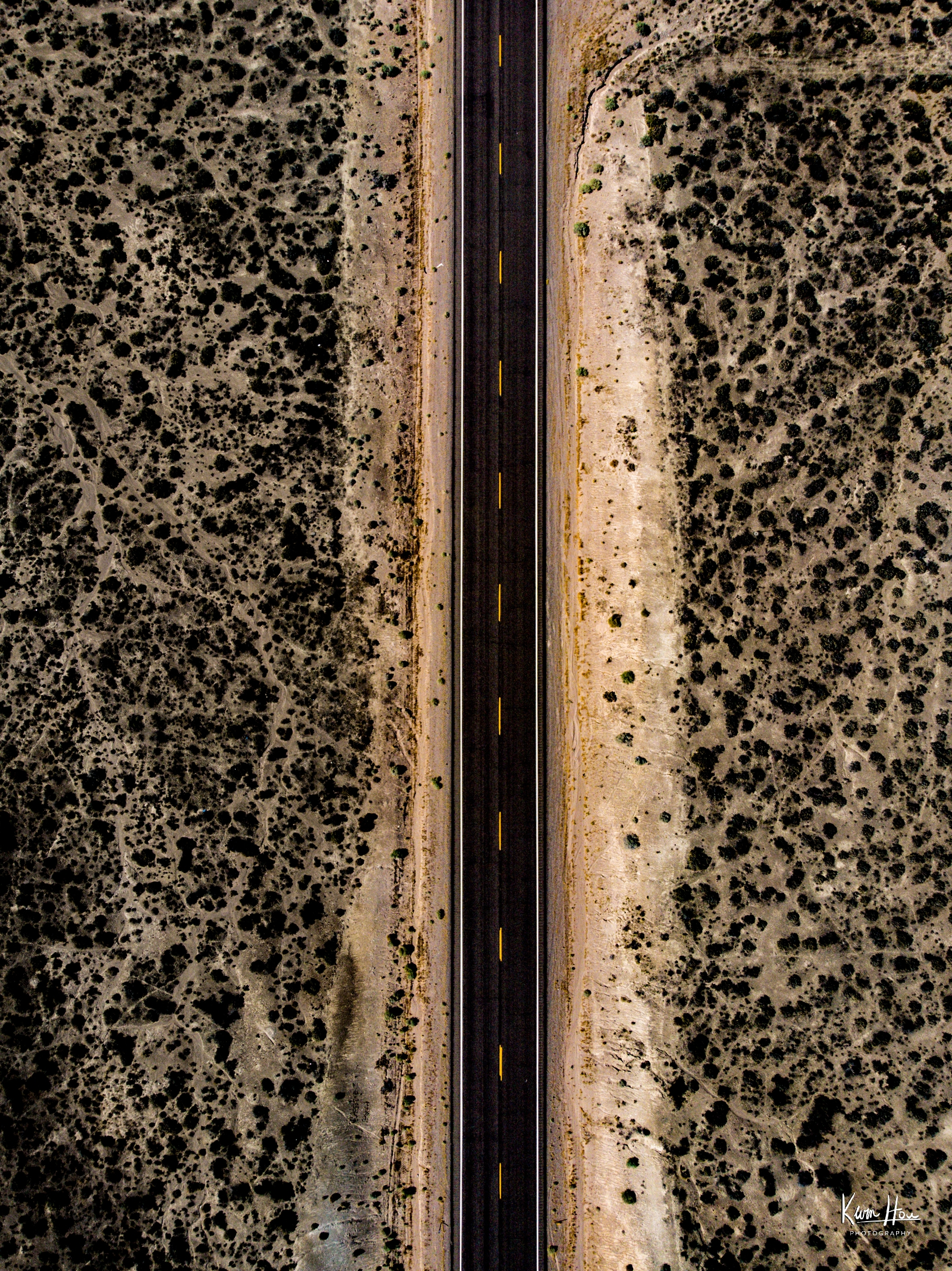 Loneliest Road Vertical Drone (Top Down)