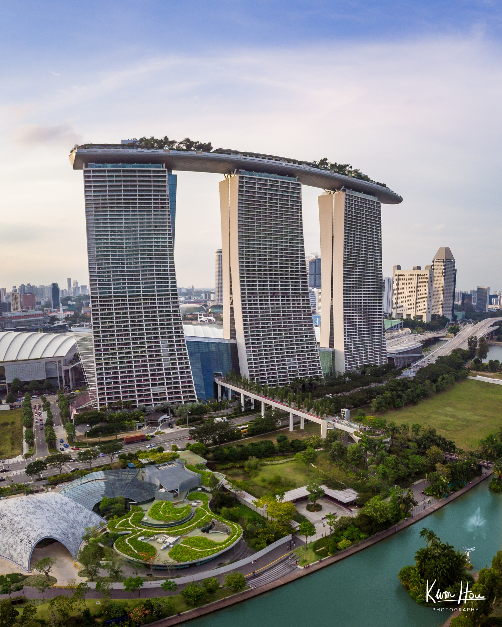 Marina Bay Sands Drone (Vertical)
