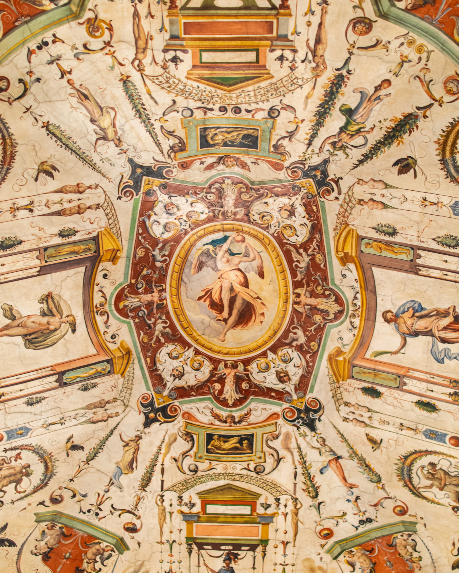 Museum Ceiling Artwork in Florence, Italy