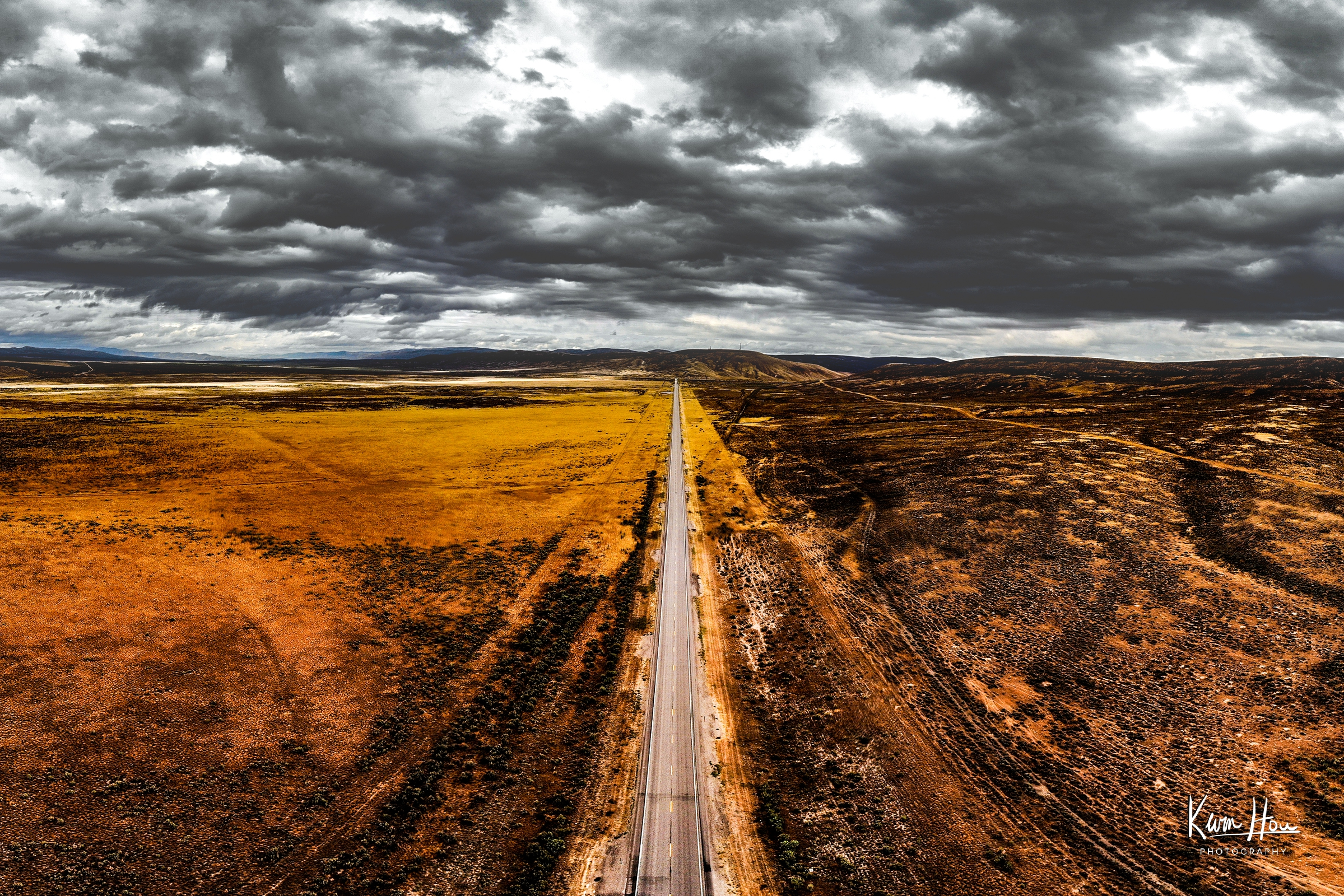 Route 89 Wyoming Drone Landscape