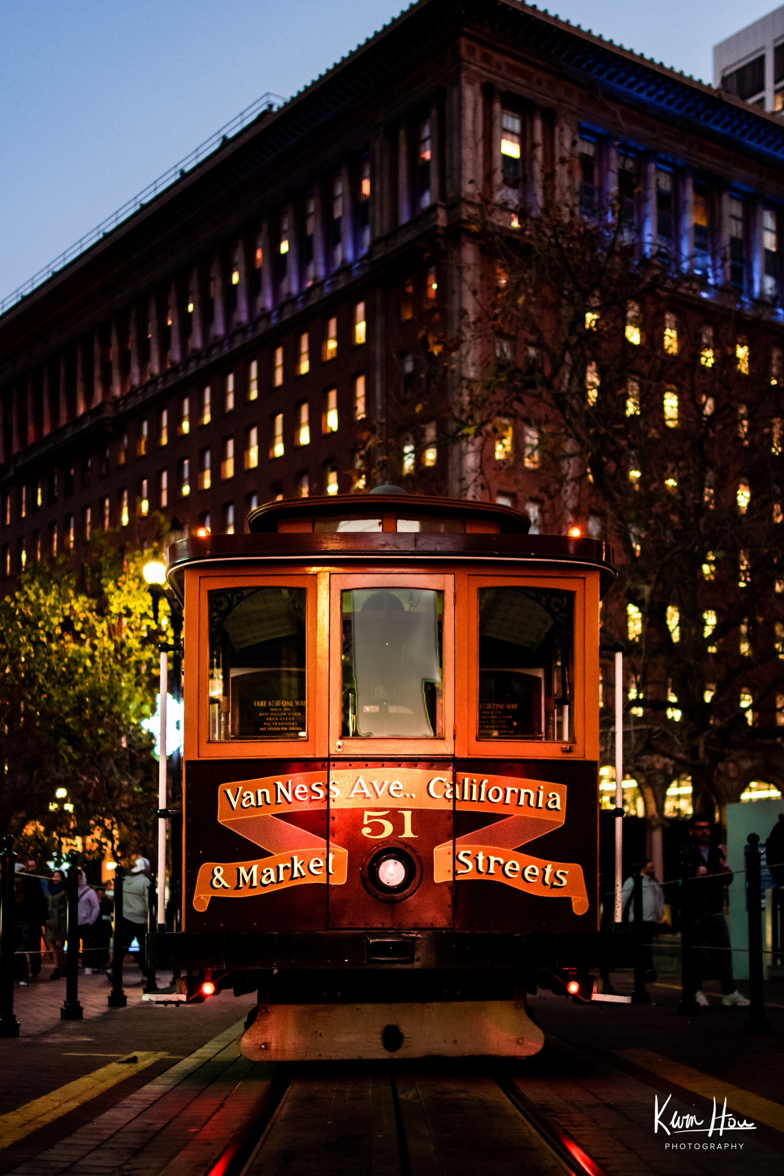 San Francisco Trolley at Night