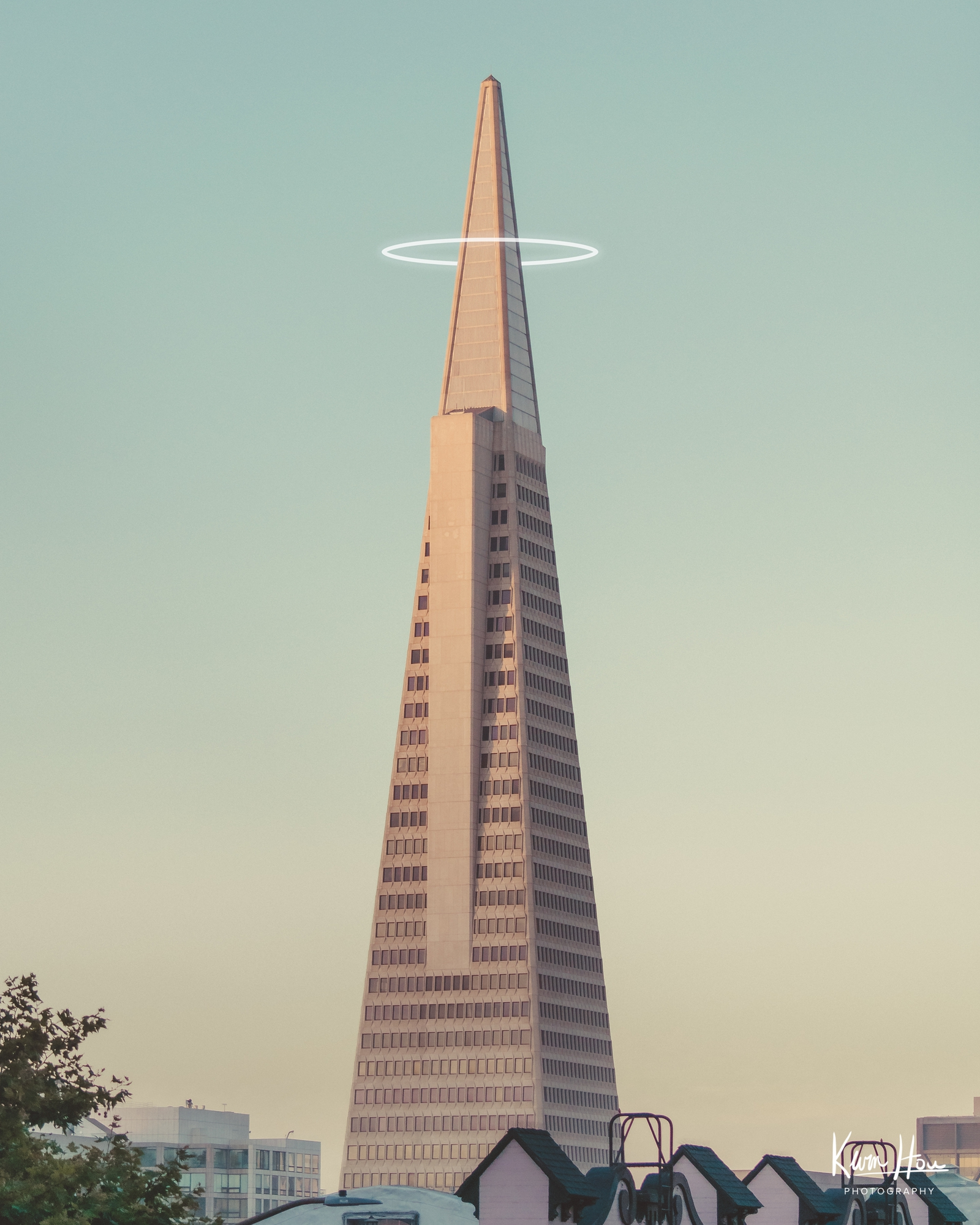 Transamerica Building with Halo